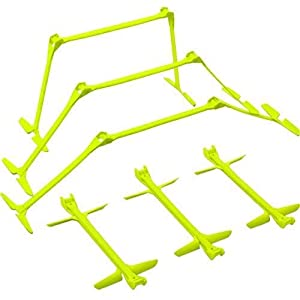 "QuickPlay PRO Adjustable Height: 6"", 9"" + 12"" The Original All-in-One Speed Hurdles (Set of 6) Speed Training Hurdles, Agility Hurdles and Plyometric Hurdles"