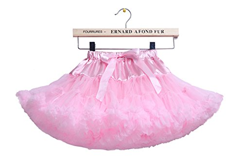 storeofbaby Girls' Fluffy Pleated Tutu Skirt Birthday Party Petticoat, 0-1 Years/S,Pink