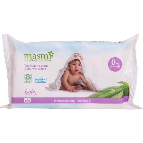 BIO FEUCHTTÜCHER Baby 100% Bio-Baumwolle MASMI 60 St Tücher DON DANDREA DEUTSCHLAND AG