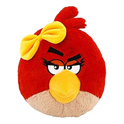 Angry Birds Plush 12-Inch Girl Red Bird with Sound: Toys & Games