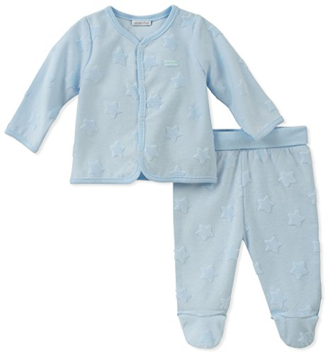 absorba Baby Boys 2 Pieces Set, Powder Blue, 0-3 Months ()