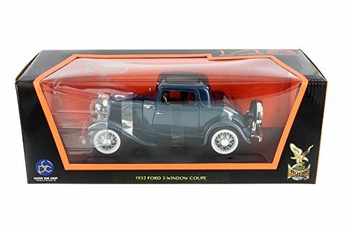 Road Signature 1932 Ford 3-Window Coupe, Blue 92248 - 1/18 Scale Diecast Model Toy (Signature Diecast Cars)