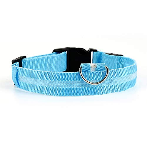 CaiZhao Large Reflective Dog Collar,Light Up Collar Improved Pet Safety 4 Flashing Modes,Water-Resistant Lighted Collar