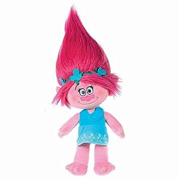 trolls plush toy princess poppy 14 37cm pink hair quality