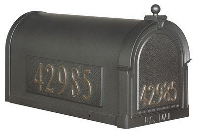 Berkshire SCB-1015-DX-SW Berkshire Curbside Mailbox with Front and Side Numbers-Swedish Silver