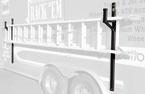 Pack'em Enclosed Trailer Exterior Side Wall Ladder Rack PK28WL-PKBM