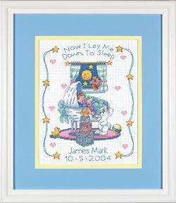 Dimensions Baby Hugs Bedtime Prayer Birth Record Cntd X-Stitch Kit (Cross Cntd Kit Stitch)