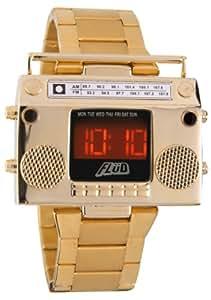 Flud Men's BBX005 Boombox Gold Retro LED Digital Watch