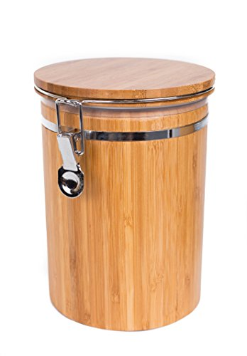 Large Bamboo Canister - BirdRock Home Bamboo Food Storage Canister with Lid | Large