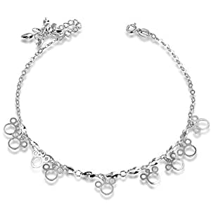Fashionable 925 Sterling Silver Korean Platinum Prevent Allergies Sterling Silver Jewelry Foot Chain