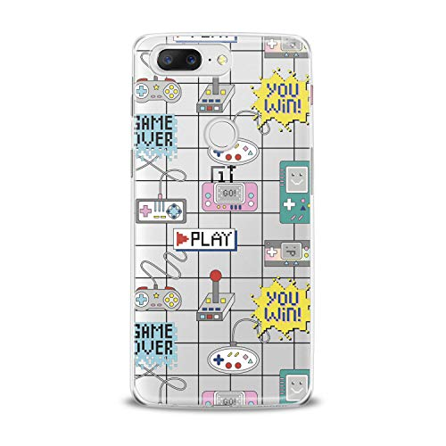 Lex Altern TPU Case for OnePlus 7 Pro 6T 6 2019 5T 5 2017 One+ 3 1+ Geek Retro Gamepads Print Smooth Joystick Soft Flexible Tetris Cover Gift Design Play Lightweight Game Over Clear Slim fit Winner]()