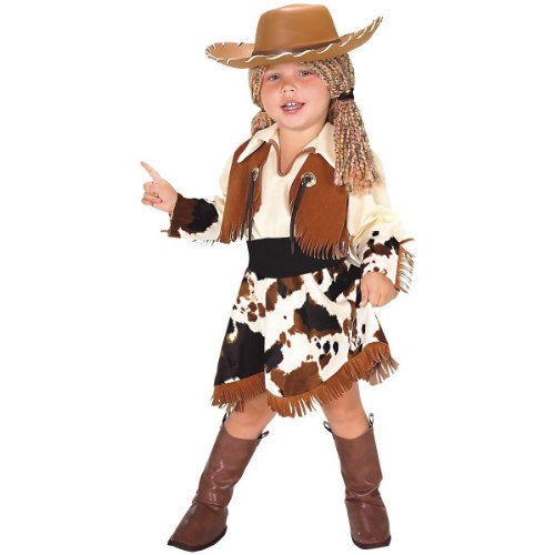 In Fashion Kids Yarn Babies Cowgirl Kid's Halloween Costume Size (3-4 -