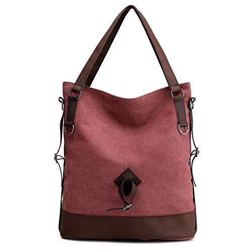 Bvilage Canvas Bag Ladies Solid Color Shoulder Bag Fashion Wild Travel Bag Casual Messenger Bag Color : Grey