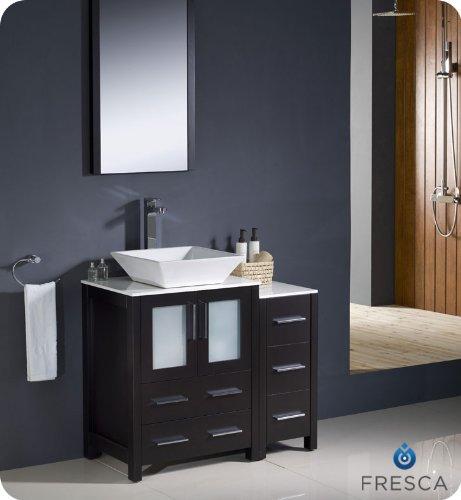 "Fresca Bath FVN62-2412ES-VSL Torino 36"" Vanity with"