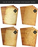 Vintage Antique Design Stationery and Printer Paper, 8 ½ x 11 inch, 124 Old Style Paper Sheets