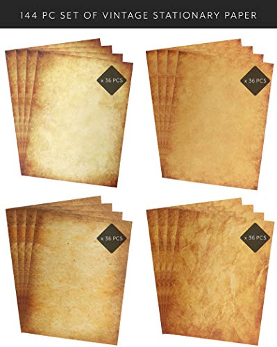 Vintage Antique Design Stationery and Printer Paper, 8 ½ x 11 inch, 124 Old Style Paper Sheets]()