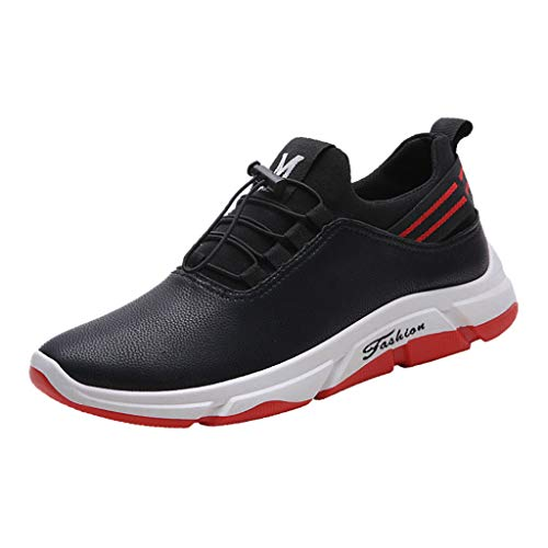 b68896ad82a06 Seaintheson Popcorn Poppers, Men Casual Running Shoes Fashion Slip-On Sport  Shoes Sneaker Comfortable Athletic Footwears Red