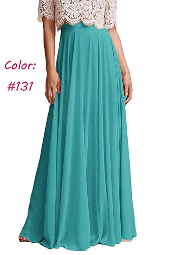 Honey Qiao Chiffon Bridesmaid Dresses High Waist Long Woman Maxi Skirt ()