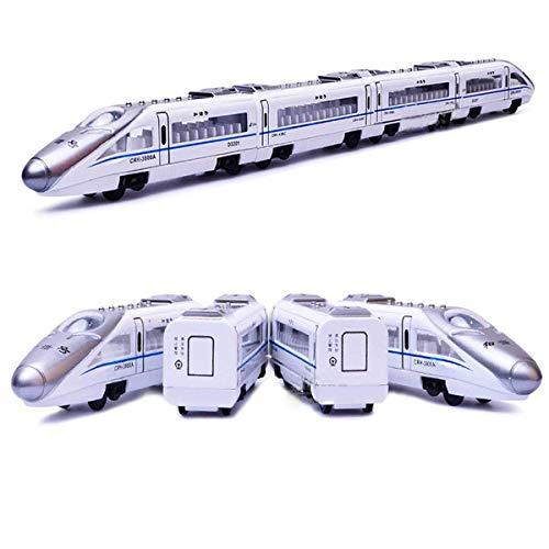 MinYn Train Model Toy Die-cast High Speed Train Metal Subway Railway Model Toy Magnetic Pullback Passenger Train Set Gift Kids & Toddlers (Bullet ()