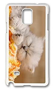 Adorable Kitten Sleeping Hard Case Protective Shell Cell Phone Samsung Galasy S3 I9300 - PC White