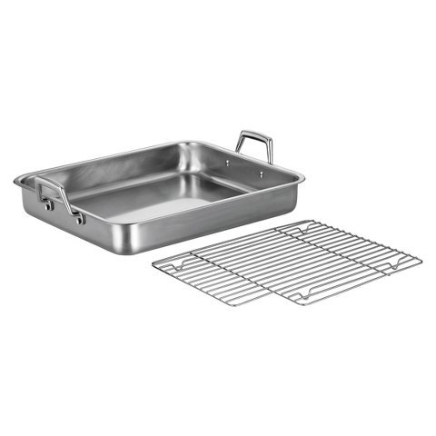New 16.5 inch Roasting Pan with Basting Grill