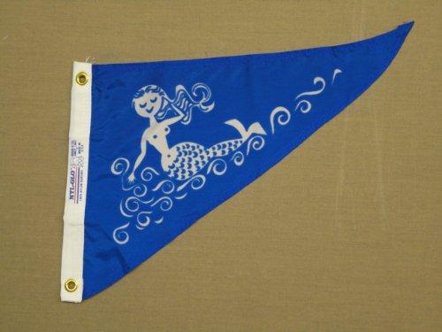 (Mermaid Fun Indoor Outdoor Dyed Nylon Boat Flag Pennant Grommets 10