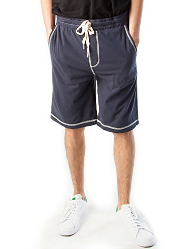 Rebel Canyon Young Men's Soft Cotton Jersey Contrast Stitch Lounge Short