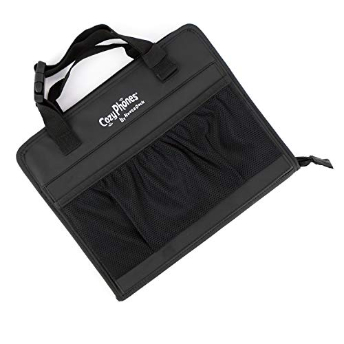 CozyCase - The Ultimate 3-in-1 Kids Convertible Travel Tablet Bag - Perfect Accessory for Car & Home - Black