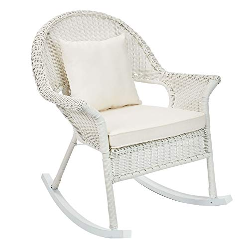 BrylaneHome Roma All-Weather Rocking Chair - White ()