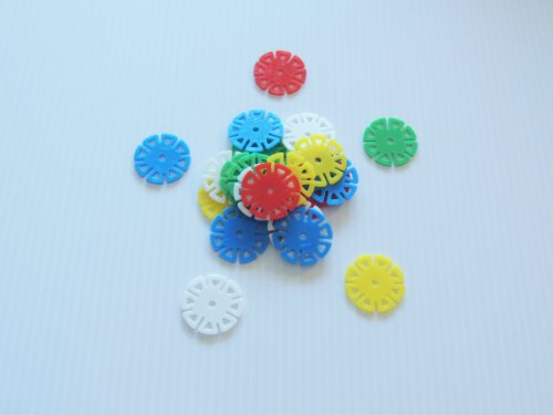 Small Spin Wheels Bird Toy Parts Parrots Crafts 250 Pieces 1.5'' Round by Jungle Beaks