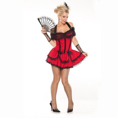 Coquette Women's Seductive Saloon Girl Adult Costume Medi...