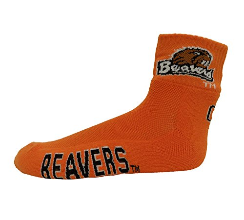 NCAA Oregon State Beavers 1/4 Sock, One Size, Orange ()