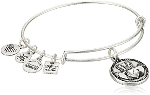 Alex and Ani Charity by Design, Claddagh Rafaelian Silver Bangle Bracelet ()