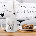 MUGBREW Cute White German Shepherd Dog Full Portrait Ceramic Coffee Gift Mug Tea Cup, 11 OZ 12