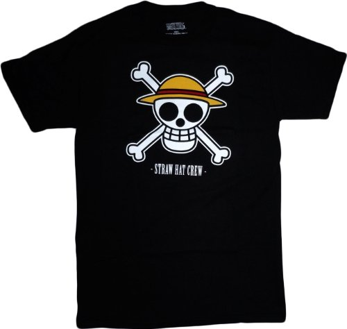 One Piece: Luffy s Jolly Roger Straw Hat Crew T-Shirt, Adult Large