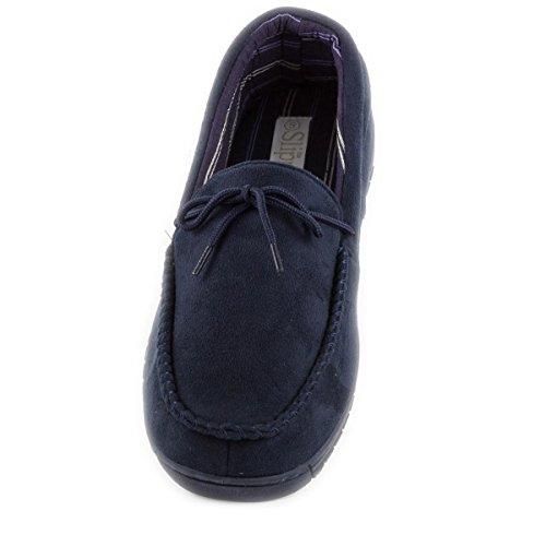 The Slipper Company - Pantufla tipo mocasín, azul marino, para hombre, con nudo Azul