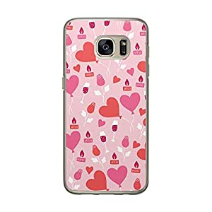 Loud Universe Samsung Galaxy S7 Love Valentine Files Valentine 44 Printed Transparent Edge Case - Pink/Red