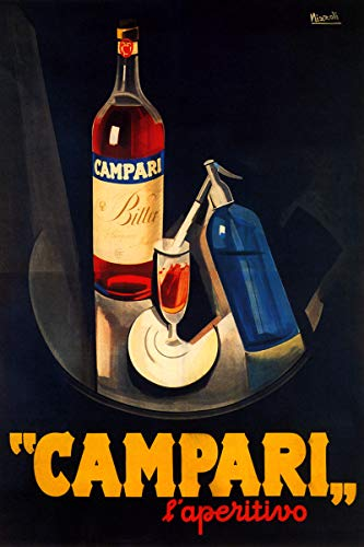 WONDERFULITEMS Campari L'APERITIVO Alcoholic Liqueur Bitter RED Tray Sparkling Water Italian Drink 12