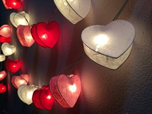 Red Heart Outdoor Lights - 1