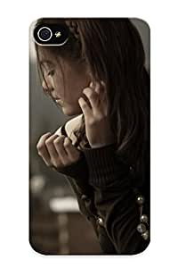 New Fashion Premium Tpu Case Cover For Iphone 4/4s - Lonely Girl On The Roof Case For New Year's Day's Gift