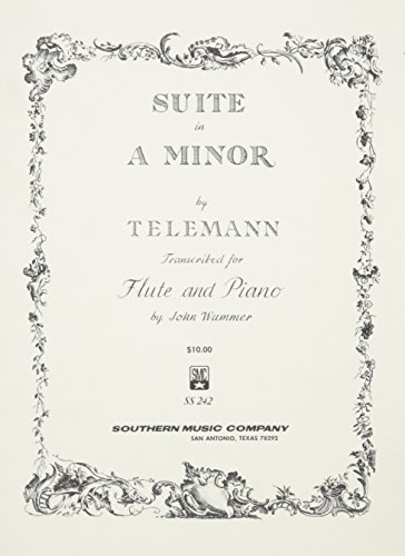 Suite In A Minor Flute And Piano (Telemann Flute)