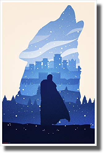 New Tv Show Poster - PosterEnvy The King in The North - Jon Snow - New Novelty GOT TV Show Poster