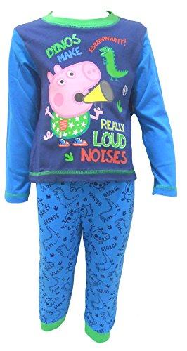 George Pig (Peppa Pig Brother) Little Boys Pajamas Blue