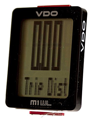 VDO M1 Wireless Largest digits and display multiple function multiple language auto start-stop Cycling Computer Bicycle Speedometer by Premium Brand (Vdo Bike Computer)