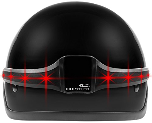Whistler WHL-40 MotoGlo Wireless Motorcycle Helmet LED Brake and Turn Signal Indicator Safety Light, Half - Whistler Motorcycle