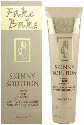 Fake Bake Skinny Solution Serious Cellulite-Fighter with Soft Sunless Glow Body Skin Care Products