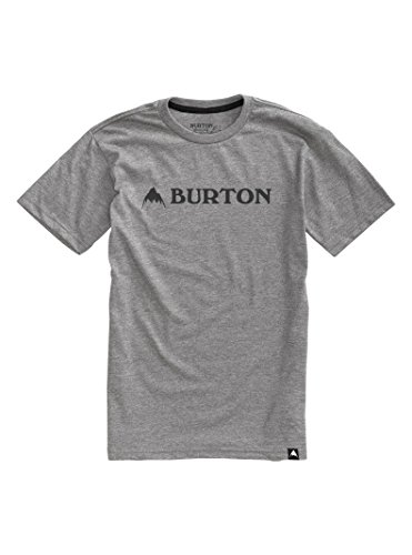 Burton Men's Horizontal Mountain Short Sleeve T-Shirt, Gray Heather, Medium