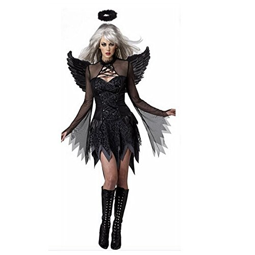[ZNFQC Adult Women's Halloween Dark Night Angel Costumes] (Dark Angel Costumes Women)
