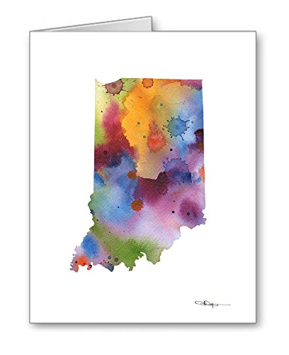 Indiana - Set of 10 State Note Cards With Envelopes