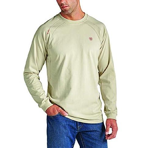 1afbcf99 ARIAT Men's Big-Tall Flame Resistant Long Sleeve Work CrewShirt